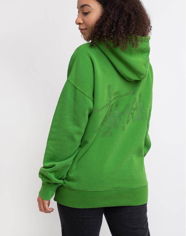 Stüssy Slant Fleece Hood Green XS