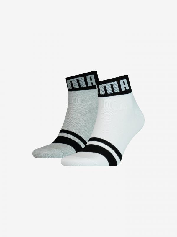 Seasonal Logo Ponožky 2 páry Puma Bílá