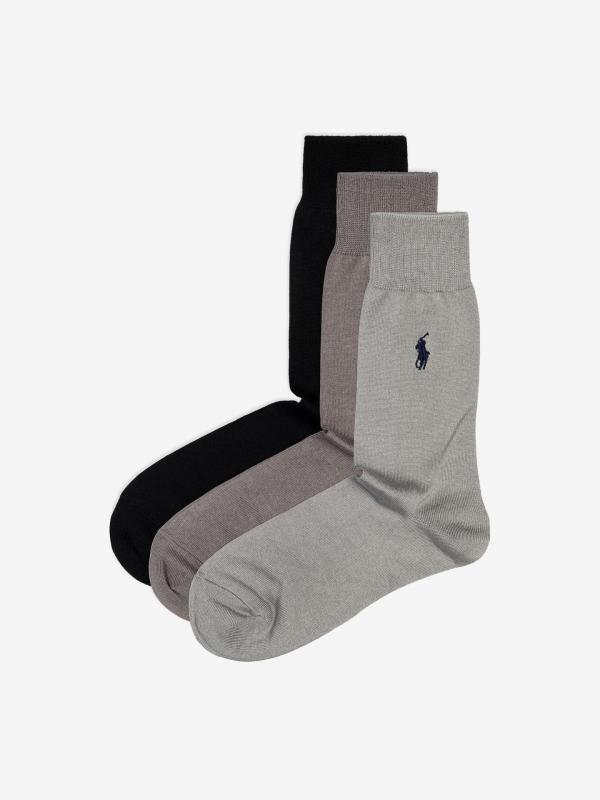 Ponožky 3 páry Polo Ralph Lauren Černá