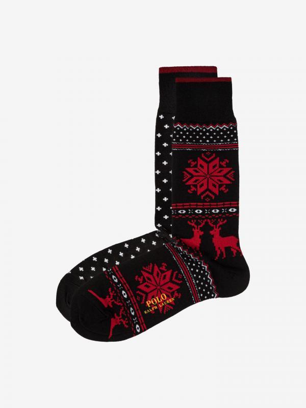 Ponožky 2 páry Polo Ralph Lauren Černá