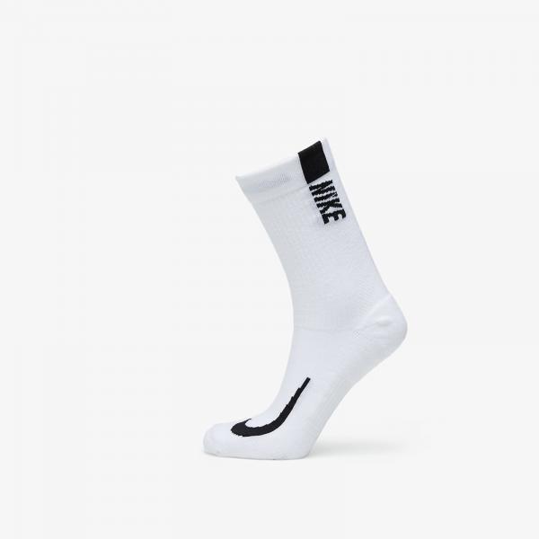 Nike Multiplier Crew Sock (2 Pairs) White/ Black