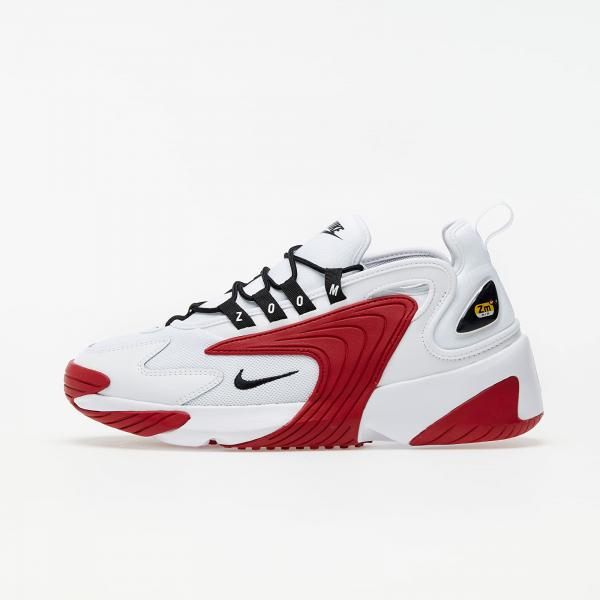 Nike Zoom 2K White/ Black-Gym Red-White