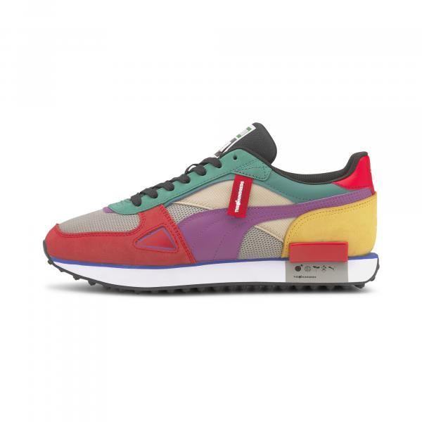 Puma Future Rider HF THE HUNDREDS Molten Lava-Amethyst-White
