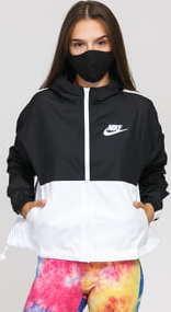 Nike W NSW Jacket Woven černá / bílá