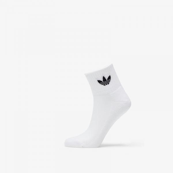 adidas Mid Ankle Socks White/ White/ Black