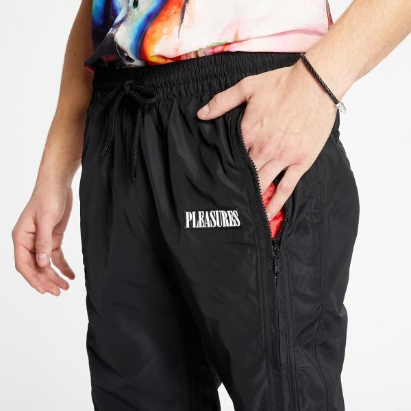 PLEASURES Blast Side Zip Track Pant Black