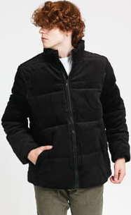 Urban Classics Boxy Corduroy Puffer Jacket černá