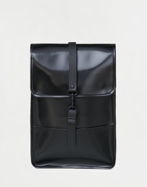Rains Backpack Mini 76 Shiny Black