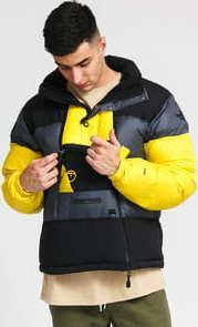 The North Face Steep Tech Down Jacket tmavě šedá / černá / žlutá