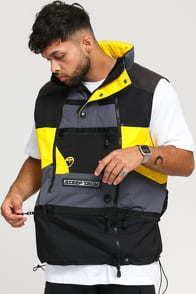 The North Face Steep Tech Vest tmavě šedá / černá / žlutá