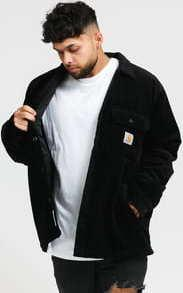 Carhartt WIP Corduroy Whitsome Shirt Jacket černá