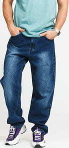 Mass DNM Slang Baggy Fit Jeans dark blue 38