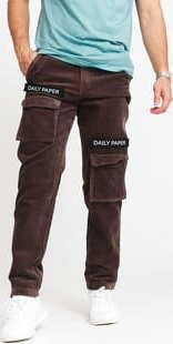 Daily Paper Corduroy Cargo Pants hnědé