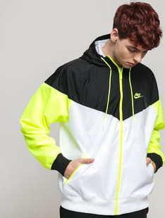 Nike M NSW HE WR Jacket HD bílá / černá / neon zelená