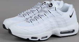Nike Air Max 95 white / black - black