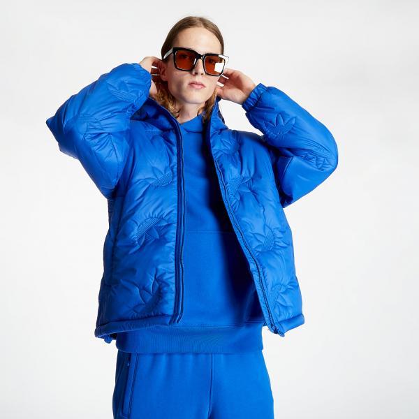 adidas Trefoil Rpt Puffer Jacket Power Blue