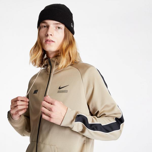 Nike Sportswear DNA Hooded Long Sleeve Top Khaki/ Black/ White