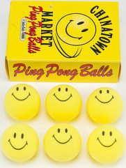 Chinatown Market Smiley Ping Pong Balls