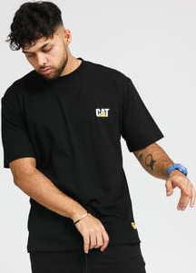 CATERPILLAR Small Logo Tee černé