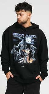 Bryland Company Werewolf Heavyweight Hoodie černá