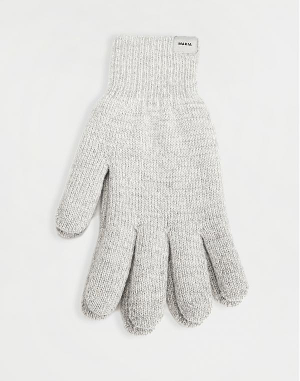 Makia Wool Gloves light grey