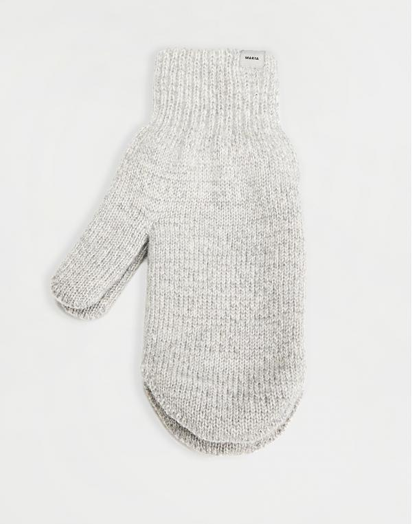 Makia Wool Mittens light grey
