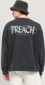 PREACH White Logo Crew tmavě šedá