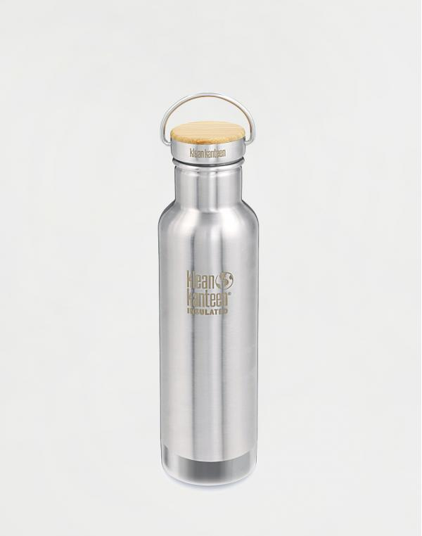 Klean Kanteen Insulated Reflect 592 ml (w/Bamboo Cap) Brushed Stainless