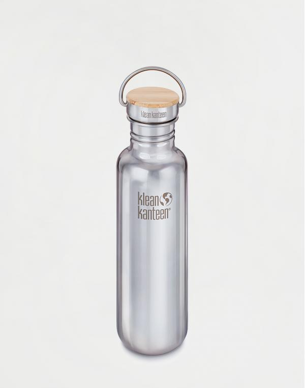 Klean Kanteen Reflect 800 ml (w/Bamboo Cap) Mirrored Stainless