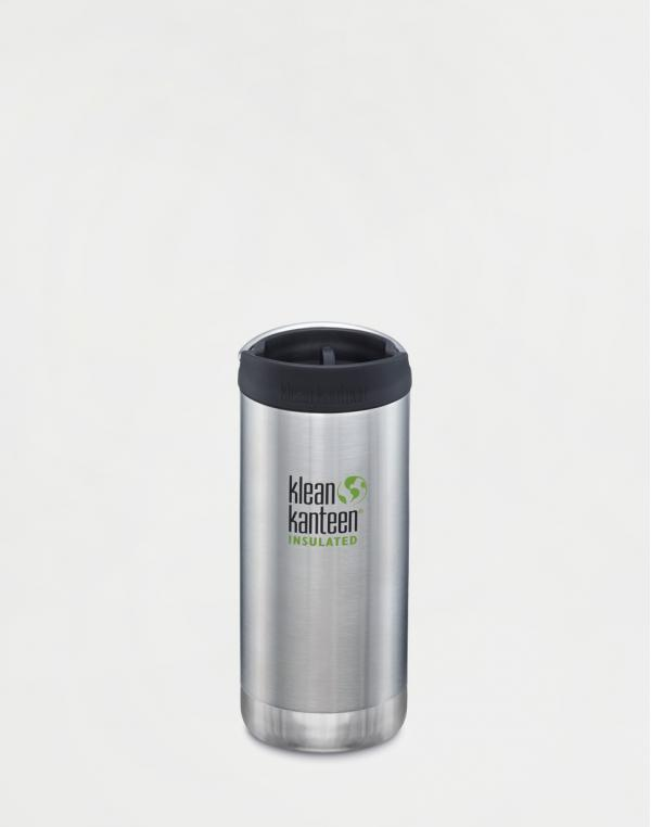 Klean Kanteen TKWide 355 ml (w/Café Cap) Brushed Stainless
