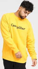 CATERPILLAR Basic Printed Logo Sweatshirt žlutá