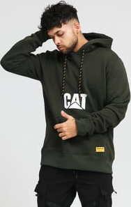 CATERPILLAR CAT Hoodie tmavě olivová