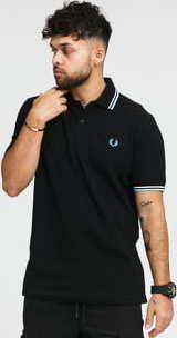 FRED PERRY Twin Tipped Fred Perry Shirt černé
