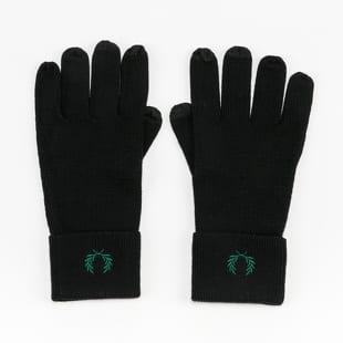 FRED PERRY Merino Wool Gloves černé