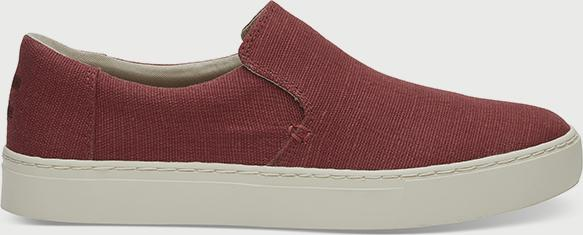 Boty Toms Henna Red Heritage Canvas Mn Loma Slipon