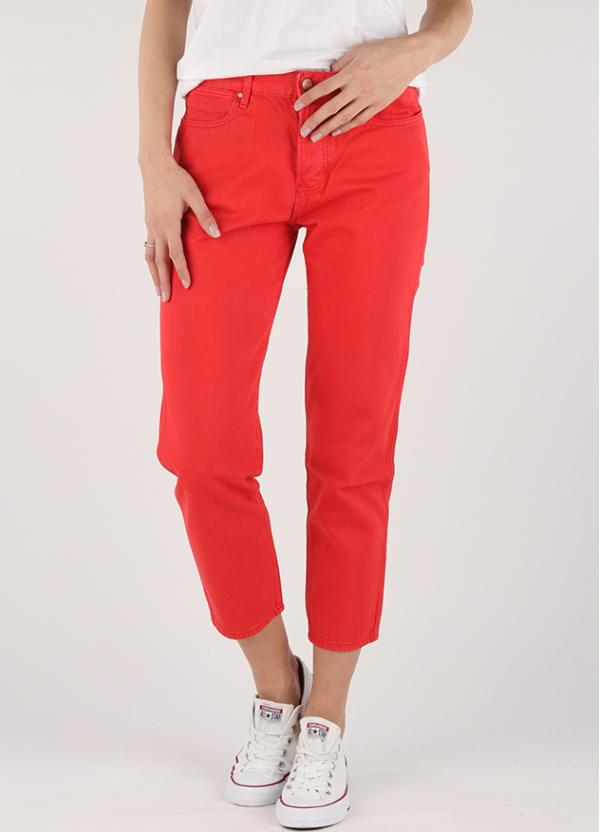 Džíny Wrangler Cropped Straight Red