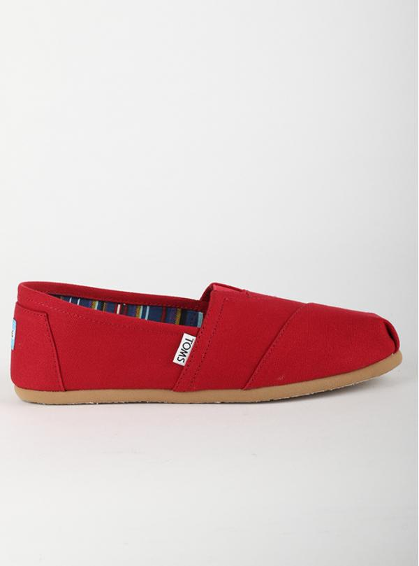 Boty Toms Red Canvas Wm Clsc Alprg Nl