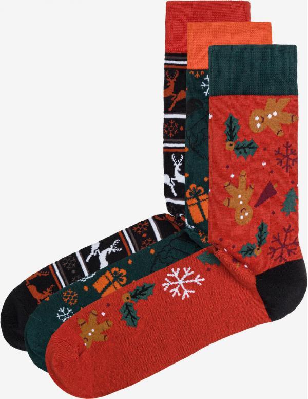 Reindeer Ponožky 3 páry Jack & Jones