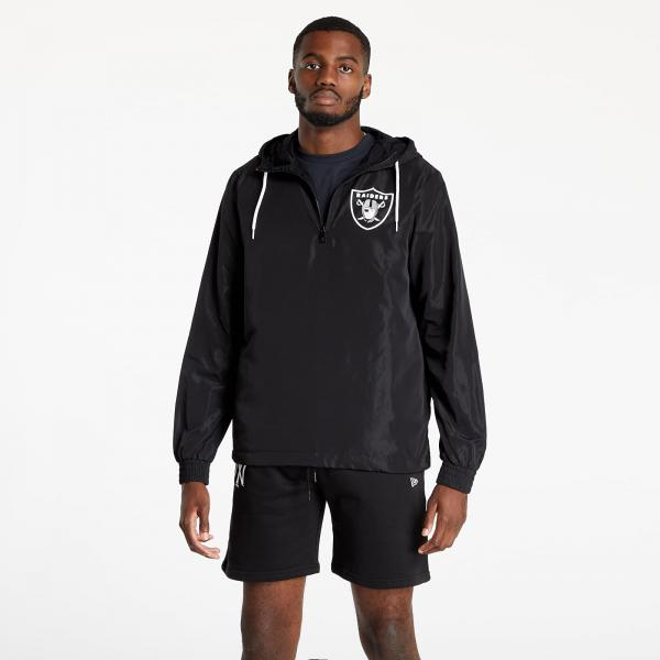 New Era NFL Outline Logo Windbreaker Las Vegas Raiders Black/ White