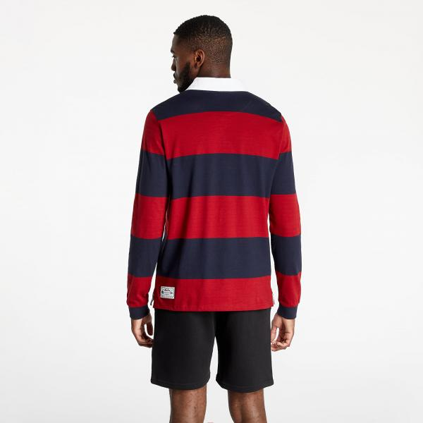 New Era Heritage Rugby Shirt Red/ Navy