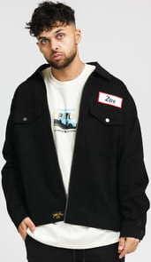 HUF X Smashing Pumpkins Zero Twill Mechanic Jacket černá