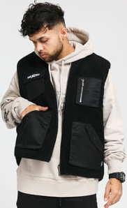 Wasted Paris Mountain Reversible Vest černá