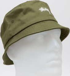Stüssy Stock Bucket Hat tmavě olivový S-M