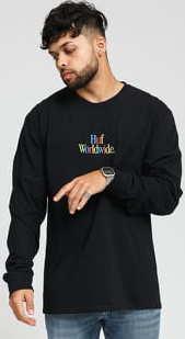 HUF Woz Embroidery LS Tee černé