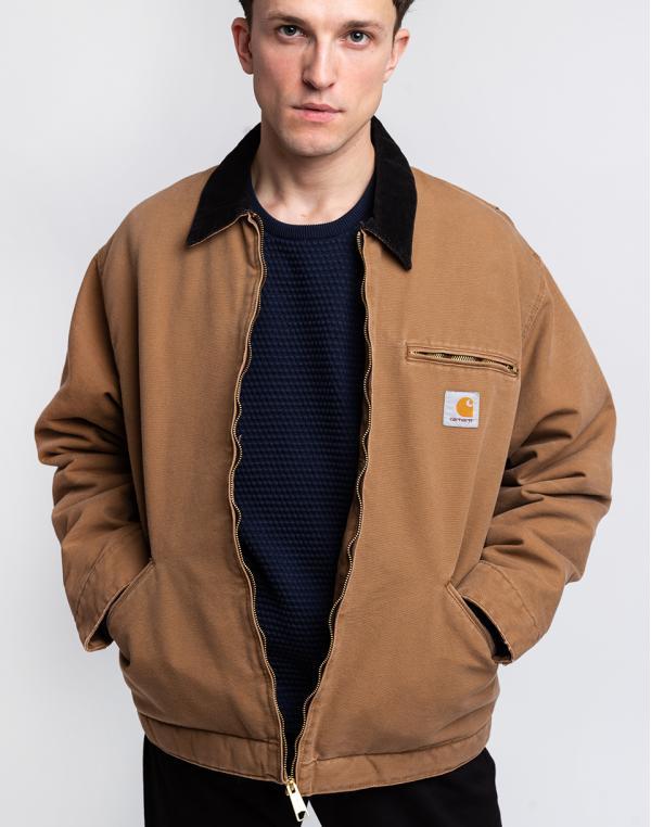 Carhartt WIP OG Detroit Jacket Hamilton Brown / Black aged canvas L