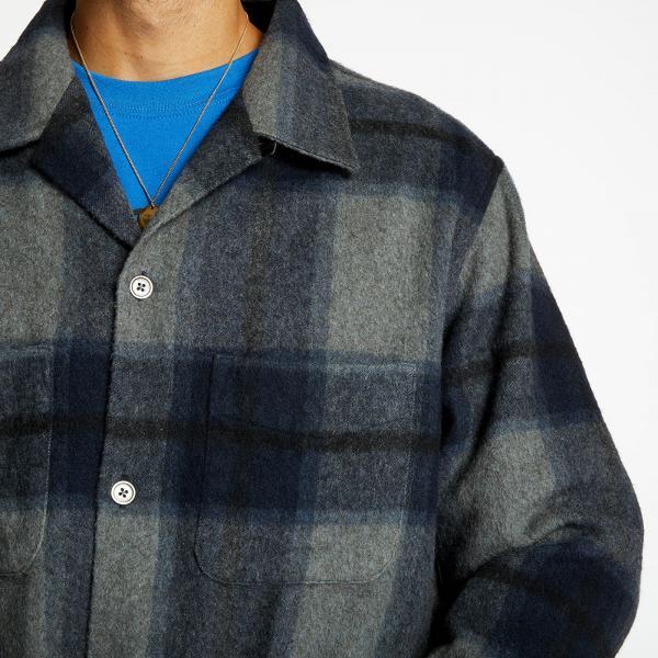 Our Legacy Heusen Shirt Windowpane Check Blue