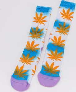 HUF Tiedye Plantlife Sock bílé / oranžové / modré / fialové
