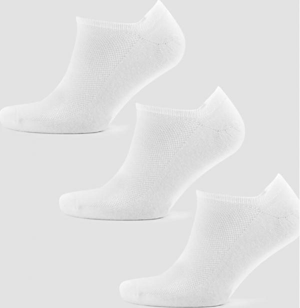 Myprotein  Pánské kotníkové ponožky - Bílé - UK 9-12