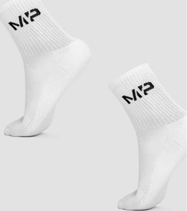 MP  Pánské Crew ponožky - Bílé - UK 9-12