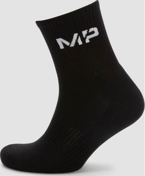 MP  Pánské Crew ponožky - Černé - UK 6-8